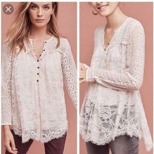 Floreat Anthropolgie lace tunic